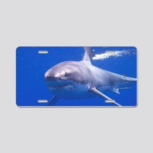 GREAT WHITE SHARK 4 Aluminum License Plate
